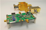 Phase-locked loop evaluation board for GaAs HBT Voltage-Controlled Oscillator MMIC module