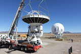 Disassembly of the ALMA NA Prototype in Nov. 2012. The antenna will be retrofitted for the extreme cold environment operations on the Greenland ice sheet.