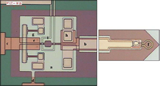 Image of SQUID (superconducting quantum interference device) chip with a 10 um direct-couple loop.