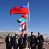 Delegation from Taiwan during the ALMA inauguration in March 2013 at the OSF in Chile.