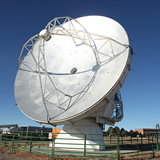 NA 12m Vertex prototype antenna at the JVLA site in Socorro, New Mexico.