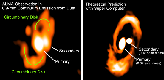 ALMA Observation of Gas Spirals as a Nursery of Binary Stars