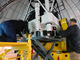 Installation of TAOS II primary mirror on telescope #2.