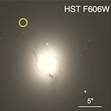 The image shows the host galaxy (NGC 4993) of SSS17a, the first electromagnetic counterpart to a gravitational wave source, in different scales (Pan et al. 2017).