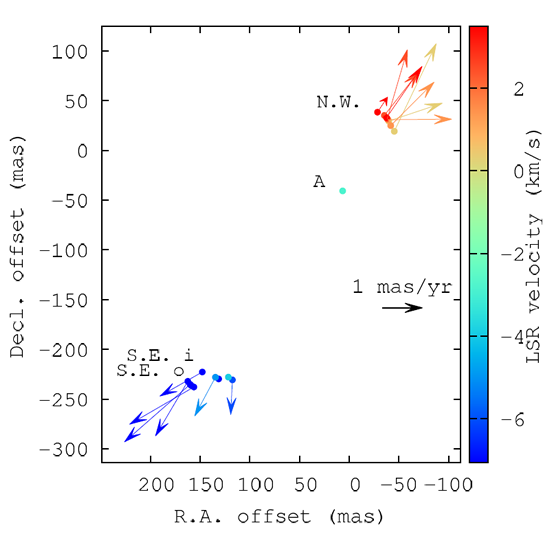 a map of 22 GHz water masers tracing a young jet in a massive young stellar object (AFGL 5142)
