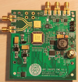 16GHz, 4 bit adc board for FMC connector