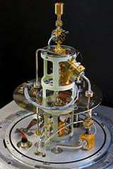 The AMiBA receiver with the vacuum chamber removed (Chen et al., 2009, ApJ, 694, 1664).