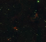 The wide field of view of WIRCam allows astronomers observing star formation efficiently.  Three star formation regions are shown in this image.  They are Sh 2-233, Sh 2-233IR and G173.58+2.45 (from right to left).