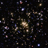 Subaru BRZ pseudo color image of the central 3'x3' region of the galaxy cluster CL0024+1654 (taken and modified from Umetsu et al. 2010, arXiv:0908.0069).