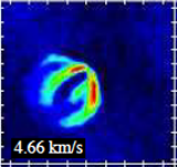 The CO J=3-2 channel map unveils for the first time at sub-millimeter frequencies the vertical structure details of a protoplanetary disks, showing the back and front side of the flared disk of HD163296