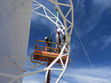 Installation of the first ALMA nutator in Chile. January 2013