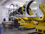 The three TAOS II telescopes being assembled at DFM Engineering, in Longmont, Colorado, USA.