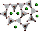 lattice structure of amorphous silicate