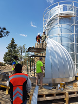 Assembly of TAOS II dome at telescope Site #2 at San Pedro Mártir Observatory.