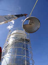 Installation of TAOS II dome at Site #1 at San Pedro Mártir Observatory.